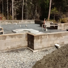 Faswall block house foundation complete.